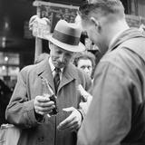 Parisians Drinking Bottled Coca Cola  Paris  France  1950