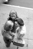 Three Women with Page Boy Hair Styles  New York  1955