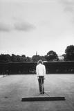 1971 Wimbledon: Worker Combing the Tennis Court Turf