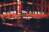 1945: Mcginnis Tango Palace Above the Roast Beef King Deli  48th and Broadway  New York  NY