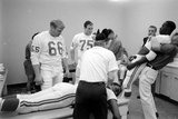 Kansas City Chiefs Football Team Players Massaged before the Championship Game  January 15  1967