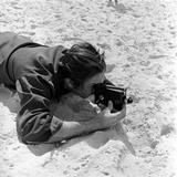Walt Disney Using Camera in Rio De Janeiro  Brazil  1941