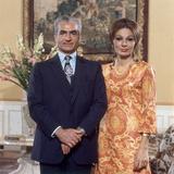 Shah of Iran Mohammad Reza Pahlavi and Wife Farah  2500th Anniversary of Persia  Persepolis