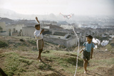 Young Boys Flying Kites in Durban  Africa 1960