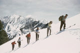 Skiers on the Slopes of Sun Valley Ski Resort  Idaho  April 22  1947