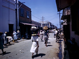 December 1946: Passersby at Market Street in Montego Bay  Jamaica