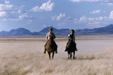 Rock Hudson and Elizabeth Taylor Ride Horses During the Filming of 'Giant'  Marfa  Texas  1956