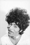 Singer and Musician Little Richard Posing in Mod Fringed Shirt  1971