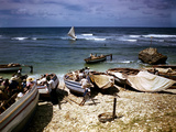 December 1946: a Fishing Fleet at Bathsheba  Barbados