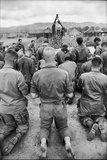 Capt Bill Carpenter and Members of the 101st Airborne at Outdoor Catholic Mass  Vietnam  1966