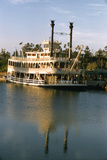 July 17 1955: Disneyland's Mark Twain River Boat  Anaheim  California