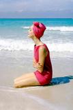 June 1956: Woman Modeling Beach Fashions in Cuba Papier Photo par Gordon Parks