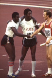 Usa Winners of the Men's 400- Meter Relay Race 1972 Summer Olympic Games in Munich  Germany