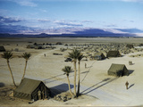 Elevated View of a Us Military Camp  Sahara  1943