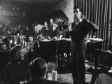 Comedian Mort Sahl Entertaining at a Night-Club Called 'Mister Kelly'S'  Chicago  Illinois  1957