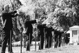 Secret Service Agents in Training Shooting Targets  Washington DC  1968