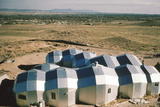 Elevated View of a Residential Geodesic Dome Structure  Called 'Zome'  Corrales  NM  1972