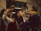 Fashion Models after a David Crystal Show Backstage  New York  New York  1960