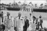 Maj Gen Thien Khiem (L)  Gen Van Minh Duong (2L)  and Gen Khanh Saigon  Vietnam  1964