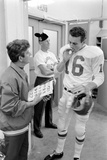Len Dawson  Quarterback for the Kansas City Chiefs  Smokes a Ciagarette  January 15  1967