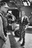 Marine Cpl James C Farley Andd Helicoptor Pilot Captain Vogel  Danang  Vietnam 1965