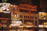 1945: Broadway and 42nd Street at Night in Front of Automat Horn and Hardart  New York  NY