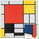 Composition with Red  Yellow  Blue and Black  1921
