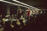 Fashion Models Show Off Designs to Buyers and Press at the 500 Club  New York  New York  1960