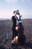 1965: Cellist Clown on Set of Mosfilm Movie 'The Good Doctor Aibolit'  Russia