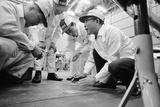 Founder of Honda  Soichura Honda Speaking to Engineers at Honda Plant  Tokyo  Japan  1967
