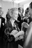 """Actress Joanne Woodward Holds Her Best Actress Award for """"Three Faces of Eve""""  1958"""