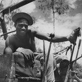 Portrait of Us Army Driver Joe Greene (Of Jacksonville  Florida)  Ledo Road  Burma  July 1944