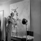 Artist Jean Lurcat Creating Tapestry Paris  France June 1946