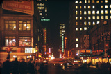 1945: 49th and Broadway Area with Chin Lee Restaurant in the Background  New York  NY