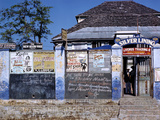 December 1946: Entrance to the Silver Lining Cafe in Jamaica
