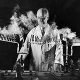 Doctor Evarts Graham Conducting Research on Cigarette Smoking and Lung Cancer  1953