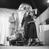 Air Force Lieutenant David G Simons  Aeronautics Engineer Otto Winzen  and Vera Winzen  1957