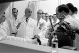 Dr Adrian Kantrowitz with Colleagues at the Bedside of Case L1 Brooklyn  NY June 1966