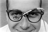 Professor Laurence R Young Wearing Glasses Measuring Eye Movement  1967