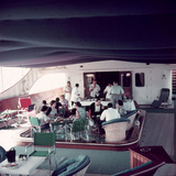 Cocktail Party on Deck of Famous Yacht 'Christina O' Owned by Shipping Magnate Aristotle Onassis