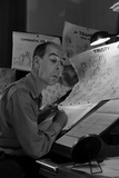 "Disney Animator-Artists Work on Sketches for ""Lady and the Tramp""  Burbank  California  1953"