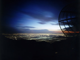 Twilight Shot of Los Angeles Seen from Top of Mount Wilson Ktla Tv Helicopter Dish  CA  1959