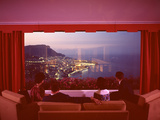 Panoramic View from the Vistaero Hotel Perched on the Edge of a Cliff Above Monte Carlo  Monaco