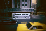 Poster of a Greyhound Bus in Front of Radio City Music Hall  New York  New York  Summer 1967