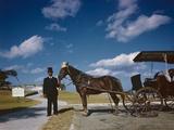 Horse-Drawn Carriage at Castillo De San Marcos National Monument  St Augustine  Florida  1946