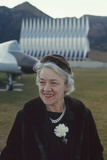 Republican Senator Margaret Madeline Chase Smith on Grounds of Air Force Academy  Denver  Co  1963