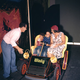 July 17 1955: Family Riding the Mr Toad Wild Ride  Disneyland  Anaheim  California