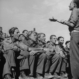 1945: Emil Kimmich Former German Army Captain and Singing Choir of Teen Prisoners  Attichy  France