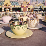 "July 17 1955: ""Mad Hatter's Tea Party"" Ride at Disneyland Amusement Park  Anaheim  California"