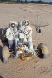 Nasa Astronauts James Irwin and David Scott Testing Lunar Vehicle for Apollo 15  Mojave Desert  197